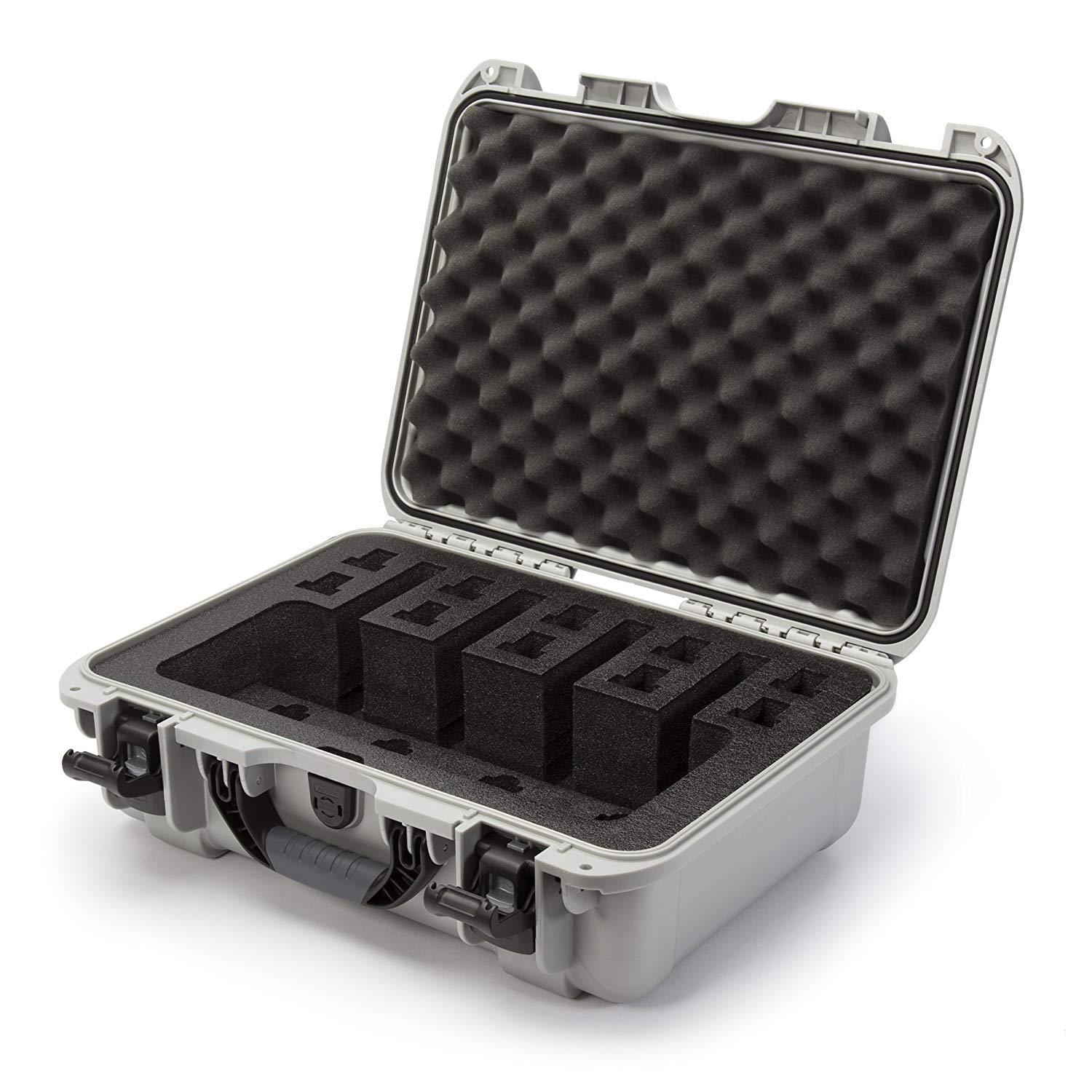 Nanuk 925 Waterproof Professional Gun Case, Military Approved with Custom Foam Insert for 4UP - Black