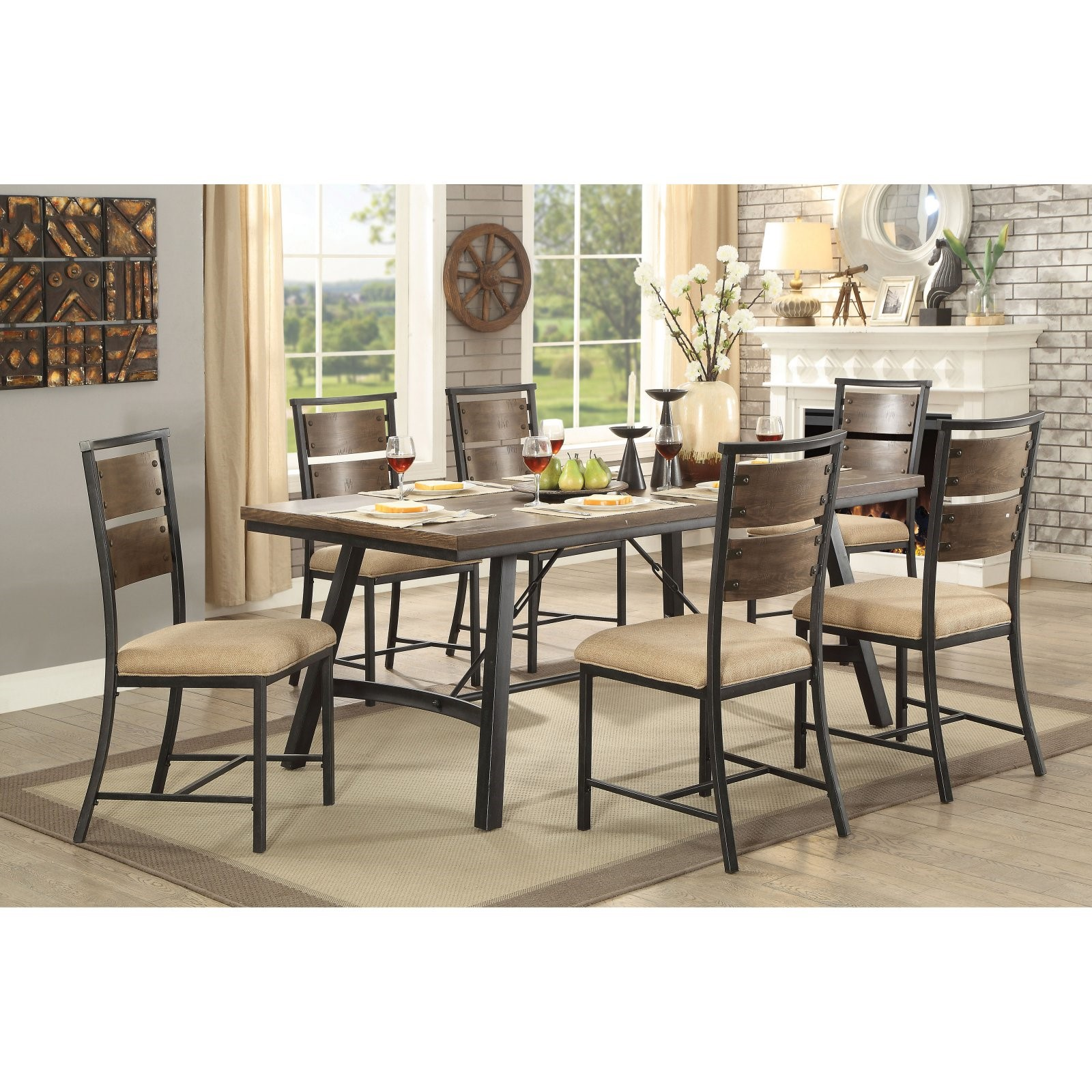 Furniture of America Greenstreet Industrial Dining Table