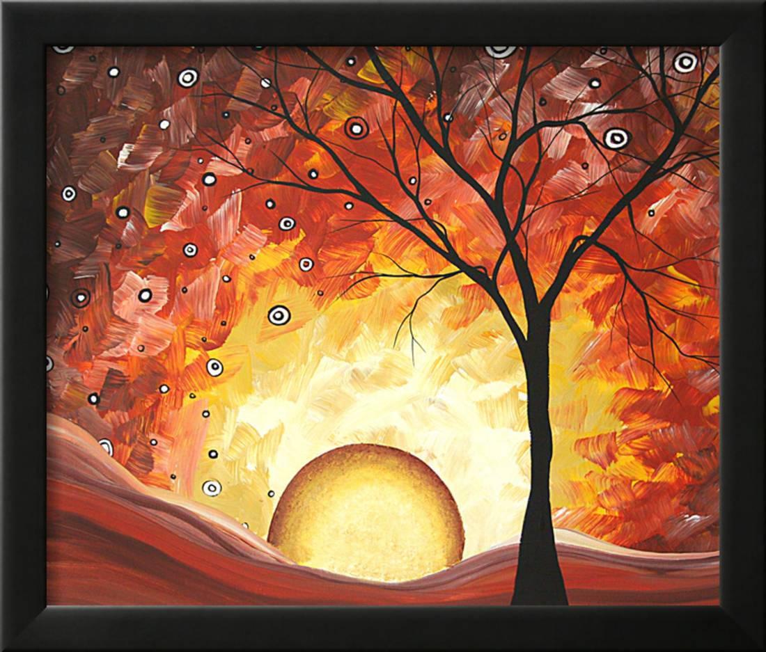 Frozen Fire Framed Print Wall Art By Megan Aroon Duncanson - Walmart.com