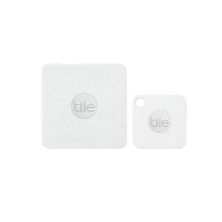 Tile Mate + Tile Slim Combo - Key Finder. Phone Finder. Anything Finder - 4 Pack (2 Tile Mate + 2 Tile Slim), White