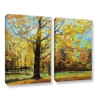 Shades of Autumn' 2 Piece Gallery Wrapped Canvas Art Print Set, 18x24