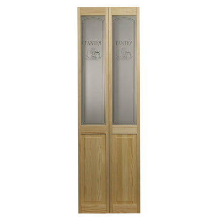 """AWC 647 Pantry Glass 24"""" x 80"""" Bifold Door, Unfinished"""