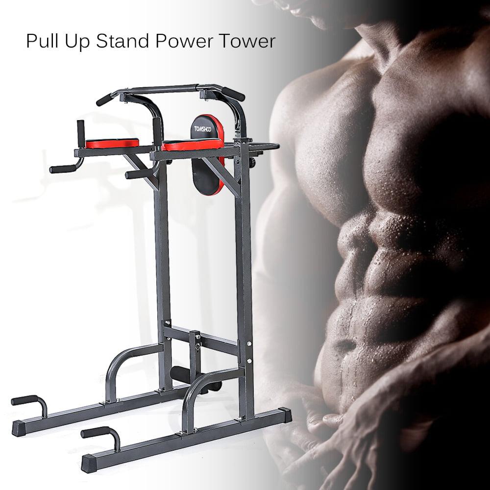 TOMSHOO Adjustable Sturdy Steel Pull Up Stand Knee Raise ...