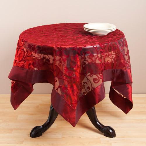 Saro Flocked Table Topper