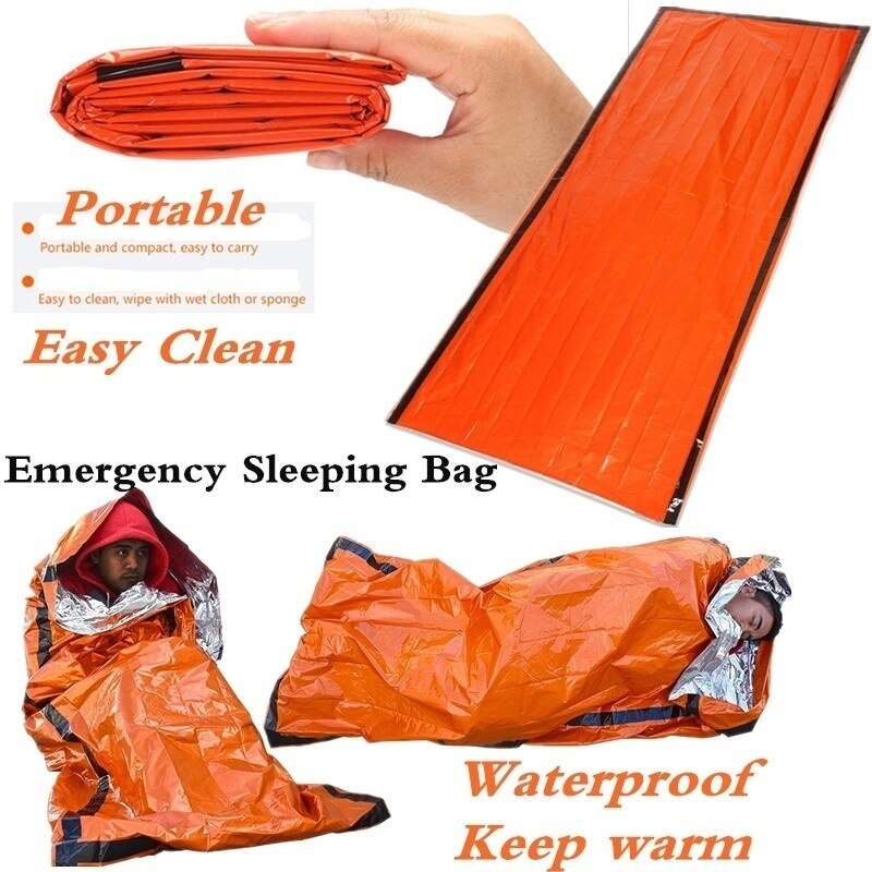 EMERGENCY SLEEPING BAGOUTDOOR LIFE BIVY THERMAL KEEP WARM WATERPROOF MYLAR