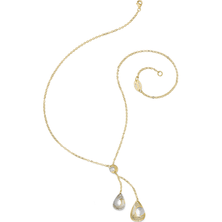 Leslies 14k Two-tone Fancy Y-Drop w/1in ext. Necklace - image 2 of 4