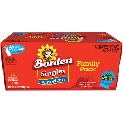 Borden American Cheese Family Pack, 3 lb