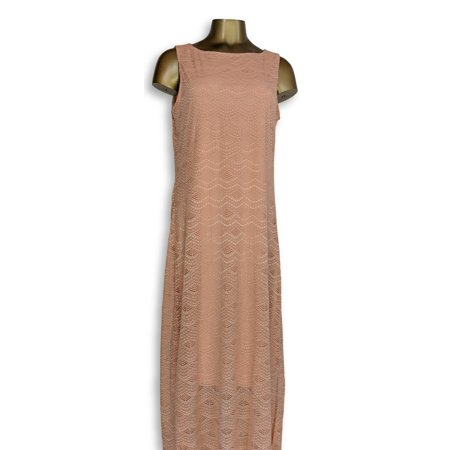 C. Wonder Dress Sz M Stretch Lace Sleeveless Maxi Pink A276281
