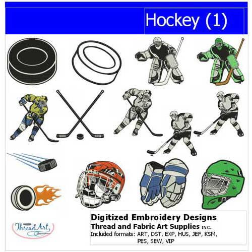 Threadart Machine Embroidery Designs Hockey(1) CD