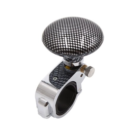 Carbon Fiber Pattern Car Power Steering Wheel Handle Assister Spinner Knob Ball