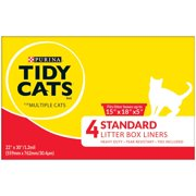 "Standard 22"" X 30"" with Ties Litter Box Liners - (12) 4 ct. Box By Purina Tidy Cats"