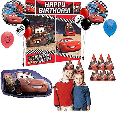 Disney Pixar Cars Birthday Party Scene Setter Photo Prop Selfie Kit