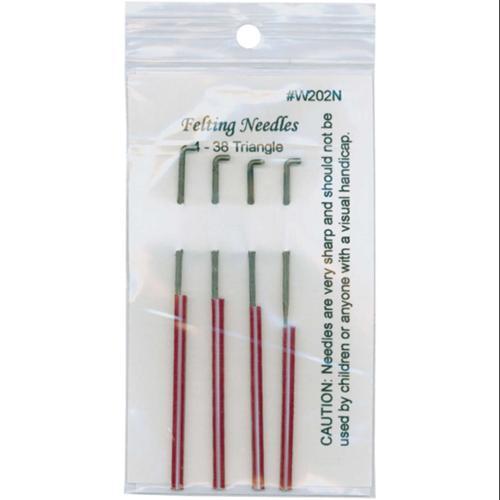 Felting Needles 4/Pkg-Size 38 Triangle