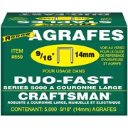 "Arrow Fastener Co. 859 9/16"" Duo Fast Wide Crown 5000 Series Staples"