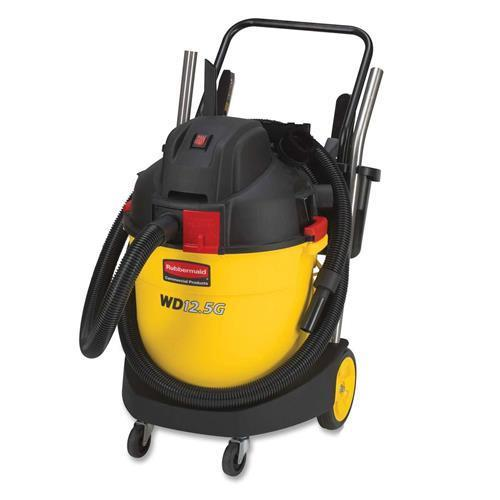 9VWD12 Rubbermaid 9VWD12 Wet & Dry Canister Vacuum Cleaner - 1.42 kW Motor - Yellow, Black