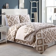 American Home Fashion Crest Darcy 4 Pieces Reversible Comforter Set