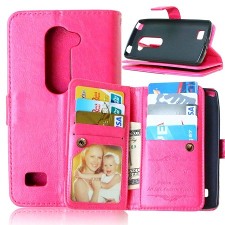 the best attitude b85ef 0c4e5 LG Risio Case LG Risio Leather Flip Case, Solid Wallet Case with 9 ...