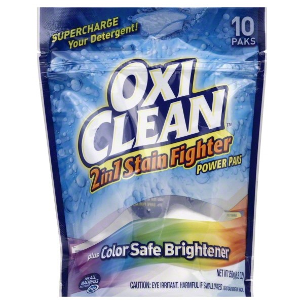 OxiClean Max Force Laundry Stain Fighter And Booster Power Paks, 10 count
