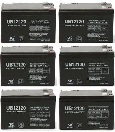 12V 12Ah F2 Electra Scoot-N-Go 88702 Electric Scooter Electric Bike Battery - 6 Pack