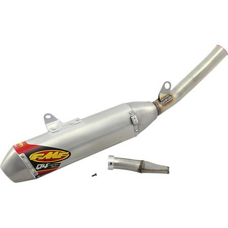 FMF Racing 044452 Q4 Spark Arrestor Slip-On - Hexagonal Muffler - Stainless Midpipe