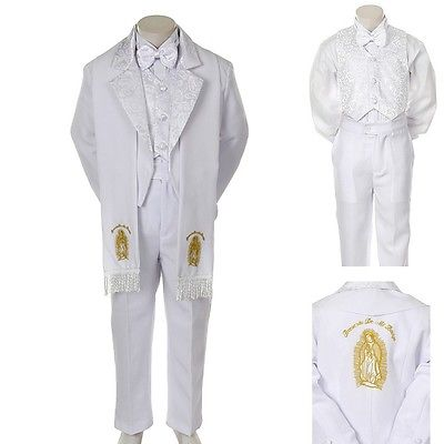 Christening Sailor Suit - New Baby Toddler Kid Child Boy Church Christening Baptism Tuxedo Suit S-7 White