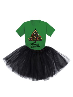 Awkward Styles Little Girls Christmas Tutu Clothing Xmas Cats Meowee Christmas Tutu Outfits
