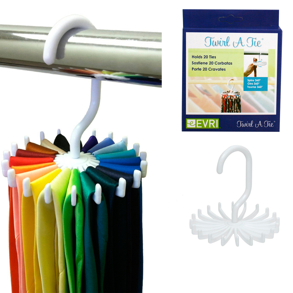 Multi Purpose Tie Hanger Round Rotating Rack Holder Storage Closet Organizer New
