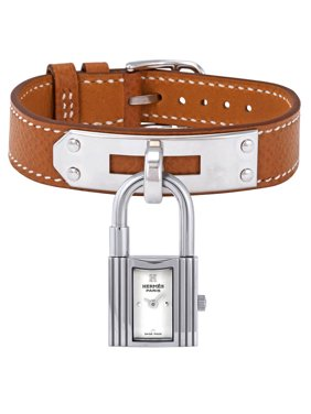Hermes Kelly White Dial Tan Leather Ladies Watch 023728WW00