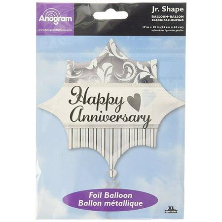 Anagram International Jr. Elegant Happy Anniversary Shape Balloon, 20