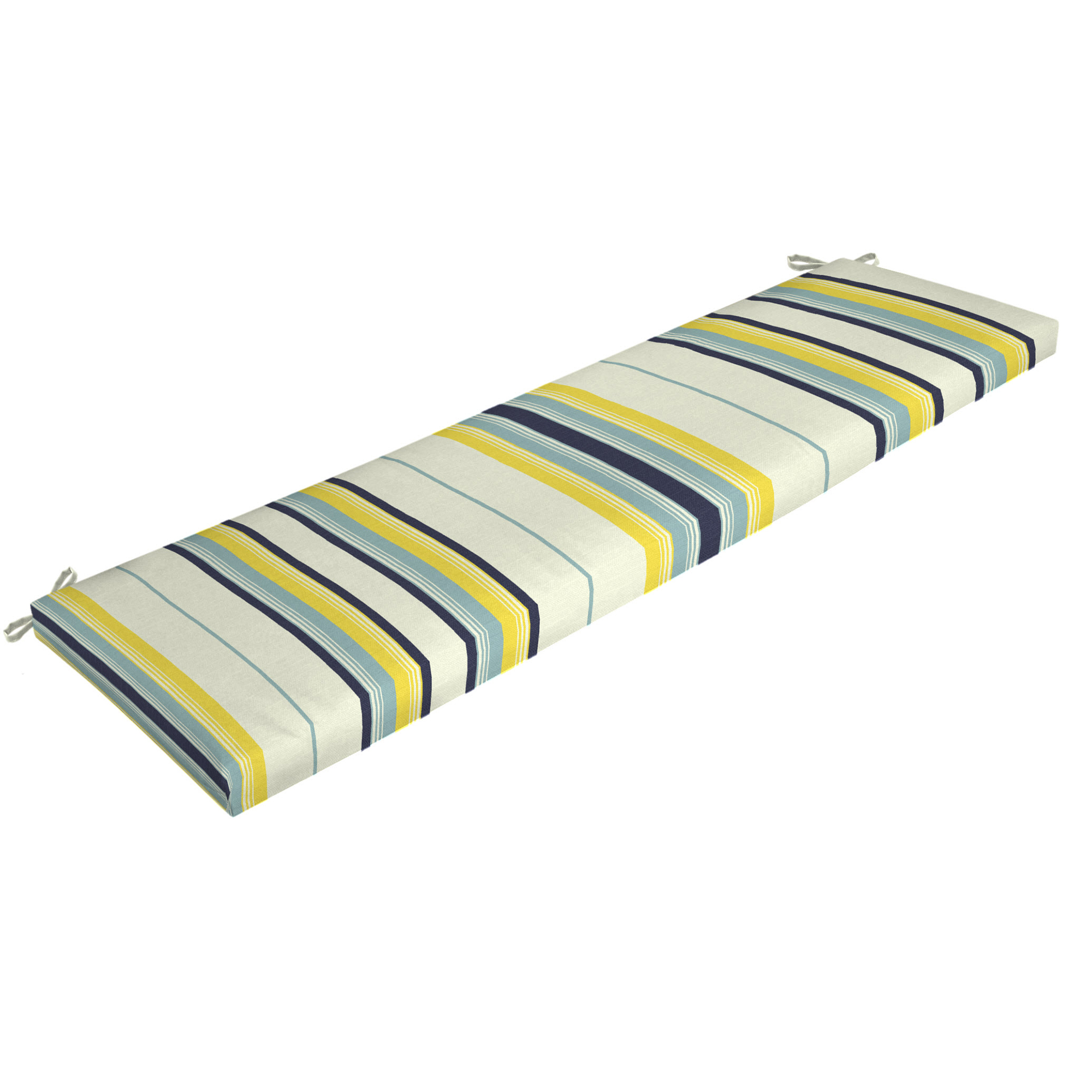 Mainstays Bell Gardens Stripe Outdoor Patio Bench Cushion