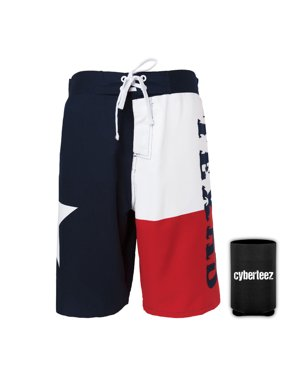 texas flag men's board shorts swim trunks + coolie (s)