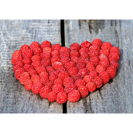 LAMINATED POSTER Symbol Ripe Love Heart Berry Red Board Raspberry Poster Print 24 x 36
