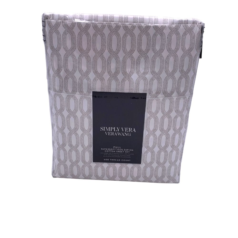 New Simply Vera Vera Wang Supima Cotton 600 Thread Count Sheet Set Choose Size