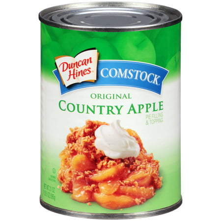 (4 Pack) Comstock Original Country Apple Pie Filling Or Topping, 21 oz
