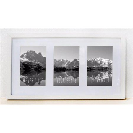 Sixtrees WD22946T 10 x 17 in. Logan White Frame - Walmart.com