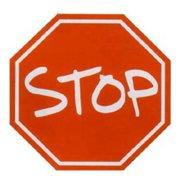 Fun Rugs Fun Time Stop Sign Round Rug, Red/White