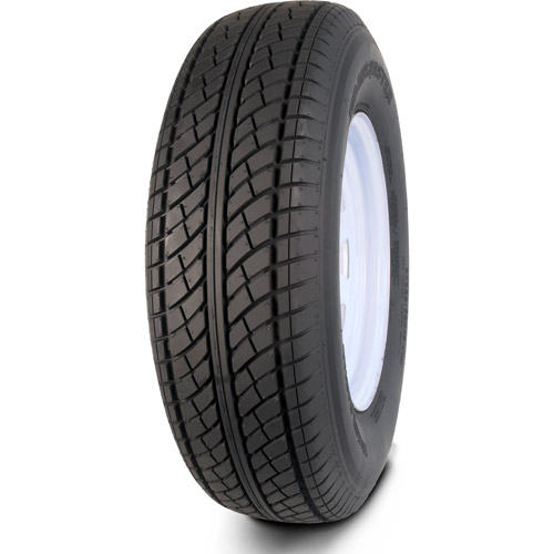 Greenball Transmaster ST215/75R14 6 Ply Radial Trailer Tire and Wheel Assembly, 5 Lug