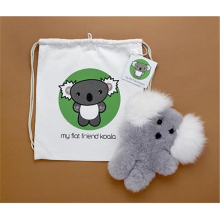 Flat Friends KOALLD Koala Lambskin Soft Plush Toy & Drawstring