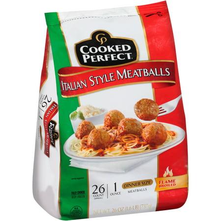 Cooked Perfect Italian Style Meatballs 26 Oz Bag