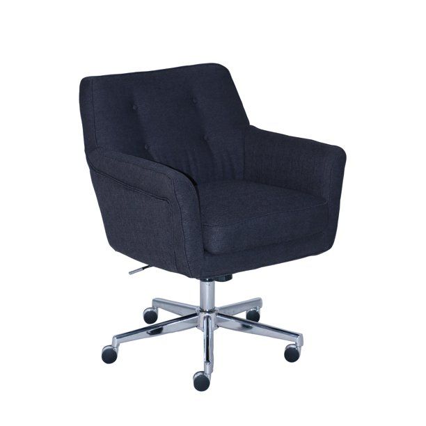 Serta Style Ashland Home Office Chair Blue Twill Fabric Walmart Com Walmart Com