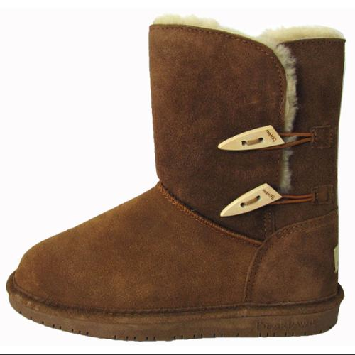 Bearpaw Womens Abigail Suede Sheepskin Boot Shoe, Hickory...