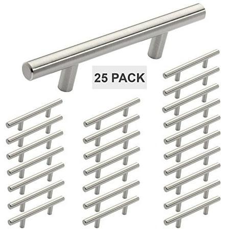 Hamilton Bowes Satin Nickel Cabinet Hardware Euro Style Bar Handle Pull - 3