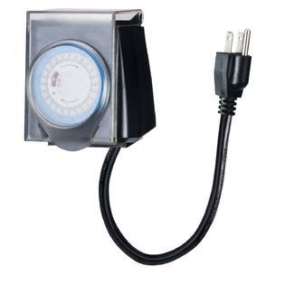 Christmas Light Timer.Outdoor Minute Electric Mechanical Christmas Lights Timer With Waterproof Safety Cover