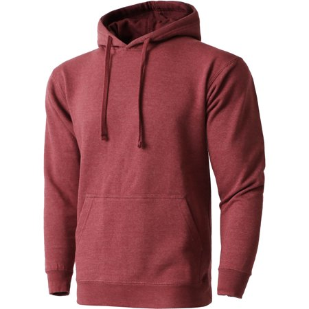 Mens Pullover Hoodie Heavyweight Long Sleeve Casual Sweatshirt
