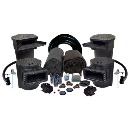 Pond Aeration System - Half Off Ponds US14 - Savio Signature Ultimate Water Garden and Koi Pond Kit with UV Filter, 2.8 CFM Aeration System, and 35 x 40 Foot EPDM Liner