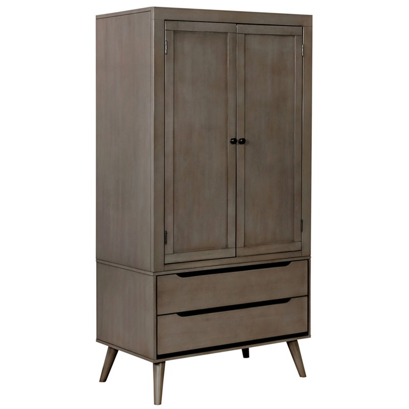 Furniture of America Adelie Armoire in Gray