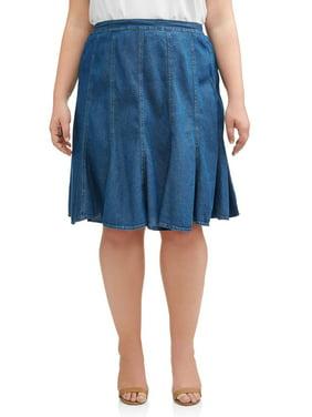 5fb7d010fa Women's Plus-Size Skirts - Walmart.com - Walmart.com