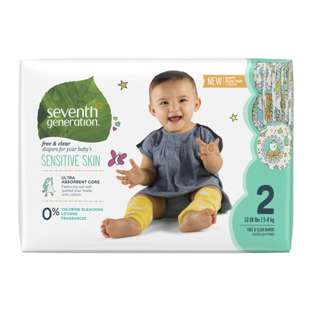 Seventh Generation Free & Clear Diapers, Size 2, 36 Diapers