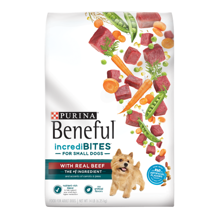 Purina Beneful Small Breed Dry Dog Food, IncrediBites With Real Beef - 14 lb. (Beneful Beef)