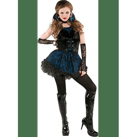 Midnight Vamp Costume (Midnight Vamp 5 Pc Costume Junior Small 3 -)